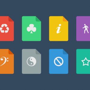 flat icon set oct